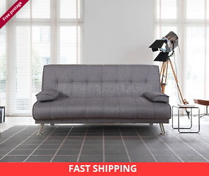 NEW SOFA BED Scandi style Fabric grey  recliner 3 Seater Luxury Modest Design