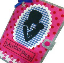Mutterpasshülle MUKI Pass Hülle aus Filz mit Anhänger  Mamapass Impfpass in rosa