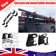 High Lift Farm Jack &Shovel Holder 4X4 Offroad 4WD Roof Rack Mount W/Accessories