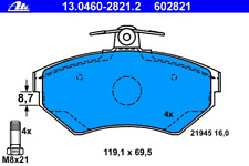 Brake Pad Set Disc Brake-ATE 13.0460-2821.2