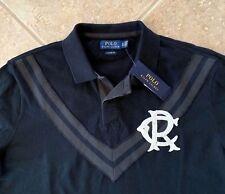 Polo Ralph Lauren Polo Mesh Shirt Mens XXL Black Collegiate Chevron Striped NWT