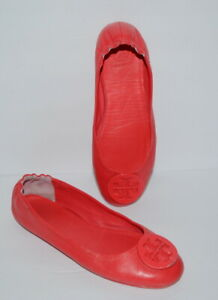 TORY BURCH REVA PINK SLIP ON BALLETS WOMEN SZ 7.5 M *GUC*
