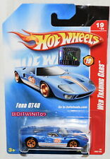 HOT WHEELS 2008 WEB TRADING CARS FORD GT40 #19/24 BLUE FACTORY SEALED