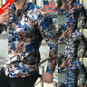 Men's Long Sleeve Floral Printed T-shirt Slim Fit Buttons Tops Casual Blouse NEW
