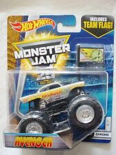 "MONSTER JAM "" AVENGER CHROME TEAM FLAG "" HOT WHEELS DIE CAST TRUCK CAR"