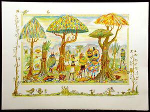 "Guillermo Silva ""Festival en el Bosque"" Signed & Numbered Art Lithograph, Spain"
