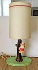 Vintage 1968 Underwriters Laboratories Disney Baby Winnie the Pooh Nursery Lamp
