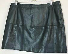 Black Faux Leather/Pleather skirt, Size 16, River Island, snake print