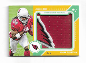 "ANDRE ELLINGTON 2013 TOPPS MAGIC SICK CARDINAL "" WING "" PATCH 3/5 $50 VERY RARE"