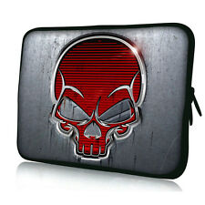 "17"" 17.3"" Red Skull Laptop Sleeve Bag Case Cover For HP ENVY Dell XPS Acer ASUS"