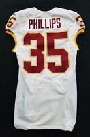 #35 Dashaun Phillips of Washington Redskins NFL Locker Room Game Issued Jersey