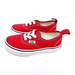 Vans Kids Red Shoes Size 11 Canvas Low Top Authentic Classic Toddler Shoes