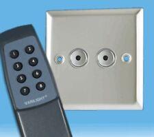 V-Pro IR, 2 Gang, 100 Watt IJ Remote/Touch LED Dimmer Polished Chrome inc Remote