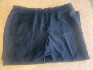 Women's ~EDWARDS Flat Front Navy Security Pants - 8591 - Size 28~ New No Tags
