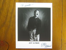 JEFF  ALTMAN    Late Show with David Letterman   Signed   8 X 10   B & W   Photo