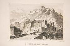 Vue de Sisteron, Alpes de Haute Provence, gravure 1840/45, France