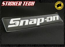 SNAP-ON CHROME AND BLACK GEL BADGE EMBLEM STICKER DECAL SNAP ON TOOLBOX ROLLCAB
