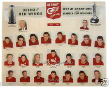 1949-50 DETROIT RED WINGS HOCKEY STANLEY CUP CHAMPIONS 8X10 TEAM PHOTO