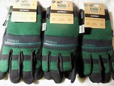 3 X Town & Country Garden TGL445XL Ultimax Gardening Gloves GREEN
