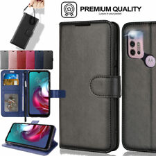 For Motorola Moto G30 / G10, G50 Flip Leather Wallet Magnetic Case Cover + Stand