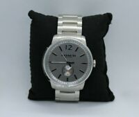 Coach Bleecker Silver Watch For Men New In Box Without Tags, CA.17.2.14.1220 NIB