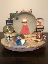 DISNEY SLEEPING BEAUTY with Fairy Godmothers Snow Globe * RARE