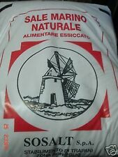 55lb 25 KG NATURAL SEA SALT BY SoSALT TRAPANI ITALIAN GOURMET COOKING DIET BULK