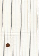 100% Cotton Fabric, White Blue Sand Striped Shirting, Patchwork