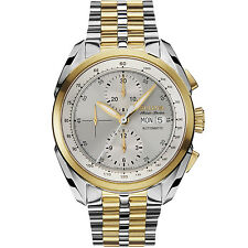 Bulova Accu Swiss Men's 65C117 Tellaro Chronograph Automatic Two-Tone Watch