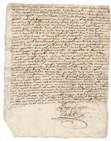 1743 KING LOUIS XV MARQUIS marquess signed manuscript document