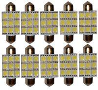 10x ampoule C5W 12V 9LED SMD blanc effet xénon 39mm navette éclairage intérieur