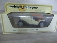 MB Models of Yesteryear Y-8 - MG-TC 1945 creme