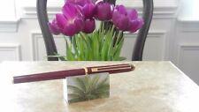 CROSS Signature Fountain Pen - BURGUNDY & GOLD - Solid 18KT Gold rare ( xf) Nib