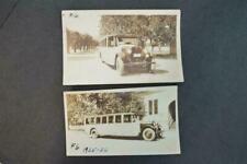 2 Vintage Photos 1925 1926 REO Truck School Bus 963057