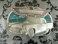 FORD THUNDERBIRD 1957 CAR VINTAGE BUCKLE BELT IN USED CONDITION