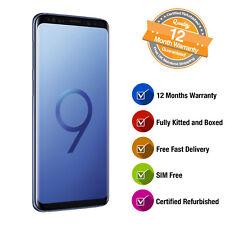 "Samsung Galaxy S9 Plus 128GB 6.2"" 12MP SIM-Free Smartphone in Coral Blue"