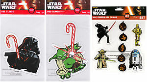 Disney Star Wars Holiday Christmas & Halloween Collectible Window Gel Clings