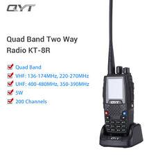 Qyt KT8R pantalla LCD de 200 canales 4 Banda Uhf Vhf 2-Way transmisor-receptor de radio aficionado
