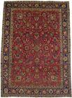Semi Antique Floral Design Large 9'5X13'2 Vintage Handmade Oriental Rug Carpet