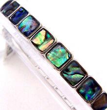 "PAUA Shell abalone Nature's 1 Stretch Bracelet 1/4""W Wheeler Mfg. STB 009"
