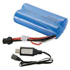7.4V 1500mAh 18650 NRH15 Battery+USB Charger Cable for Syma Q1 Boat Toys BC744