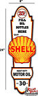 """24"""" X 8"""" Shell GASOLINE LUBSTER FRONT DECAL LUBESTER OIL CAN / GAS PUMP"""
