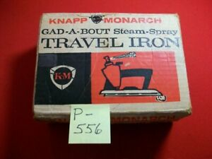VINTAGE COLLECTIBLE KNAPP MONARCH GAD-A-BOUT STEAM-SPRAY TRAVEL IRON #17-563 EXC