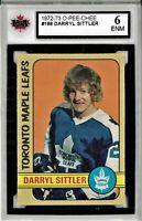 1972-73 O-Pee-Chee #188 Darryl Sittler Graded 6.0 ENM (052619-10)