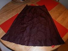 Rare Vtg Motley of Garrick St Burgundy Silk Half Slip  Belong  to Molly Keane