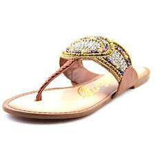 Buckle Leather T-Strap Medium (B, M) Sandals & Flip Flops for Women