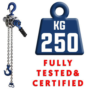LiftinGear 250kg Manual Hand Ratchet Chain Lever Winch Lifting Pull Hoist