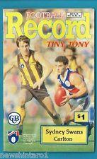 #NN. AUSTRALIAN RULES FOOTBALL RECORD, SYDNEY SWANS V CARLTON 6-8/6/1990