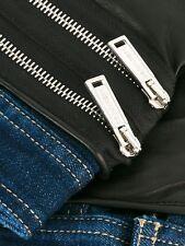 DSQUARED 2 Denim y guantes de cuero Talla 9.5