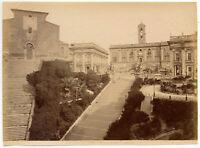 Roma Campidoglio Foto originale all' albumina 1880c R. Moscioni Rome L886